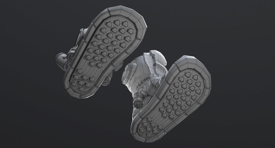 Sci-Fi Boots royalty-free 3d model - Preview no. 16