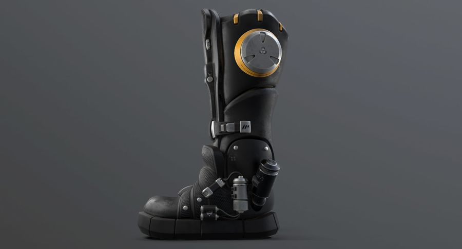 Sci-Fi Boots royalty-free 3d model - Preview no. 11