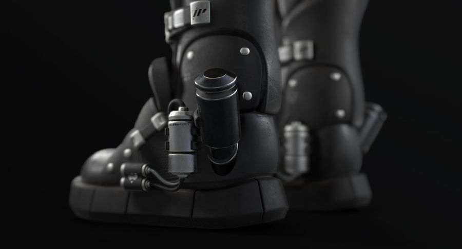 Sci-Fi Boots royalty-free 3d model - Preview no. 8