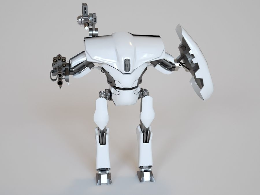 robot ty1 royalty-free 3d model - Preview no. 2