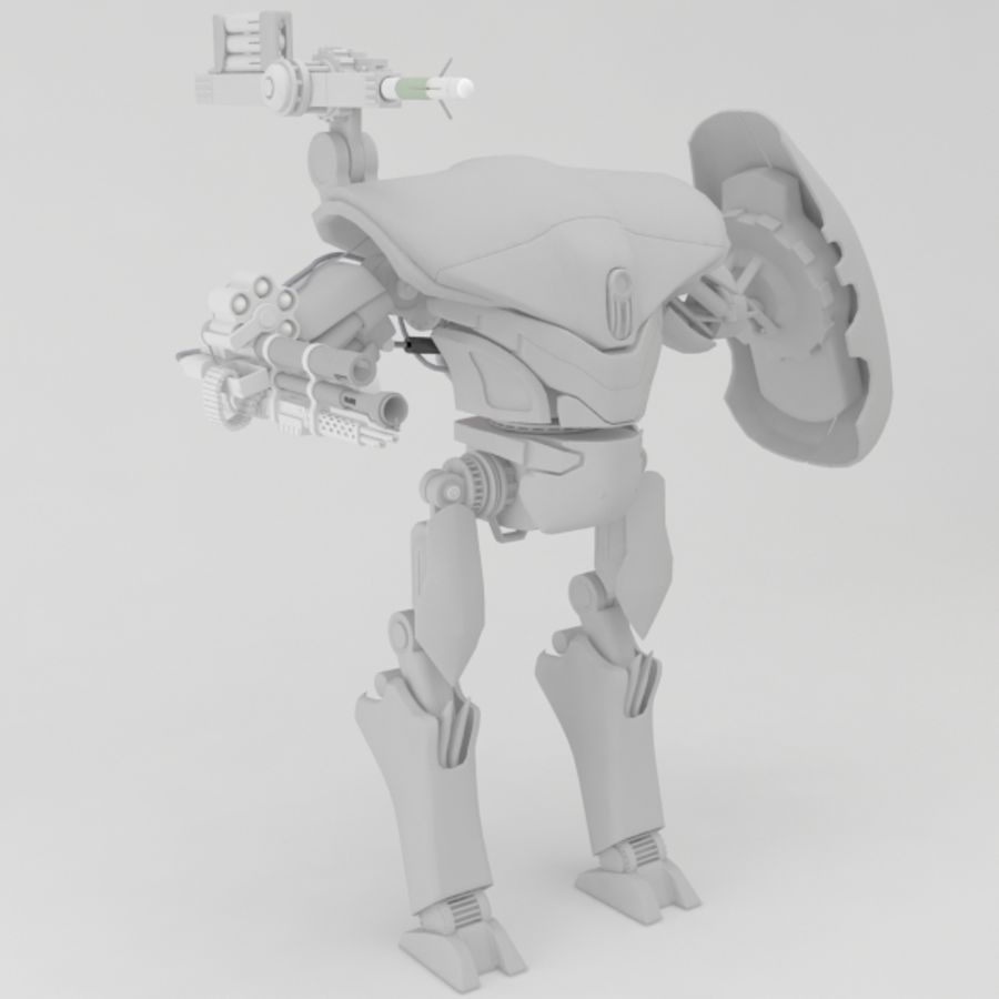robot ty1 royalty-free 3d model - Preview no. 4