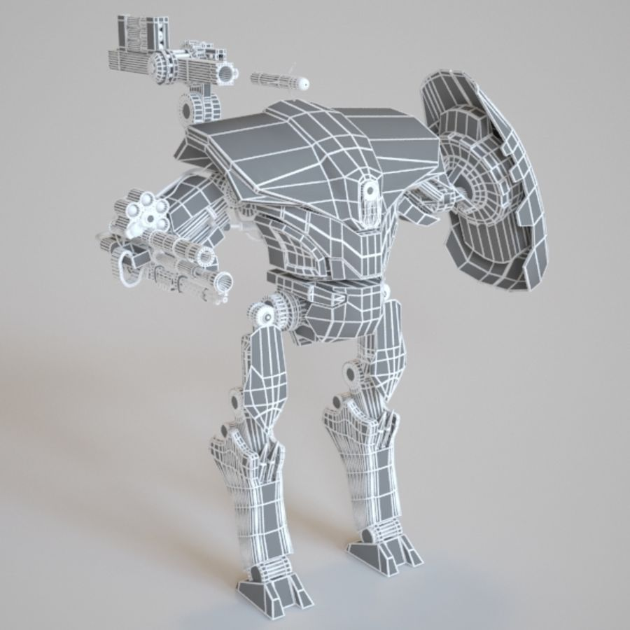 robot ty1 royalty-free 3d model - Preview no. 3