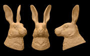 Заяц голова 3d model