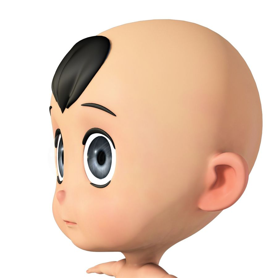 cartoon Baby opgetuigd v1 royalty-free 3d model - Preview no. 10