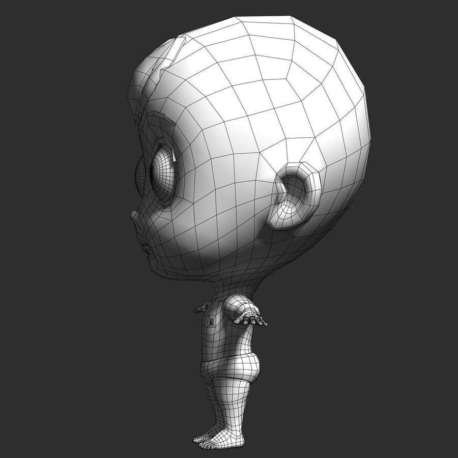 cartoon Baby opgetuigd v1 royalty-free 3d model - Preview no. 15