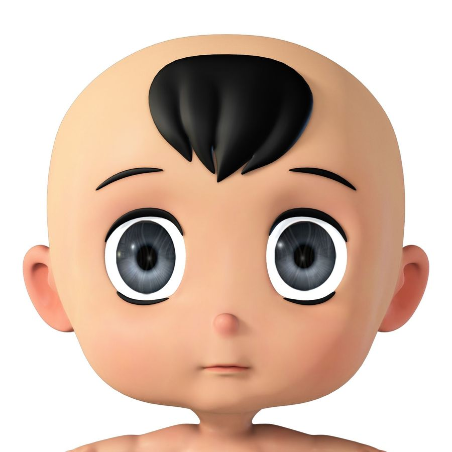 cartoon Baby opgetuigd v1 royalty-free 3d model - Preview no. 9