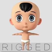 tecknade baby rigged v1 3d model