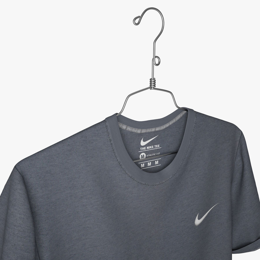 Koszulka T-shirt Nike royalty-free 3d model - Preview no. 2