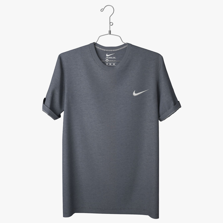 Koszulka T-shirt Nike royalty-free 3d model - Preview no. 1