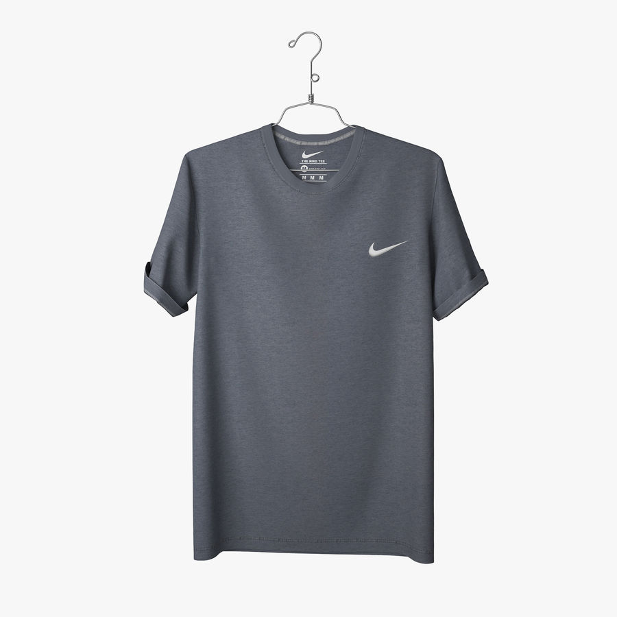 Koszulka T-shirt Nike royalty-free 3d model - Preview no. 3