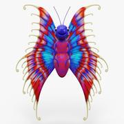 Cartoon Butterfly 3d model