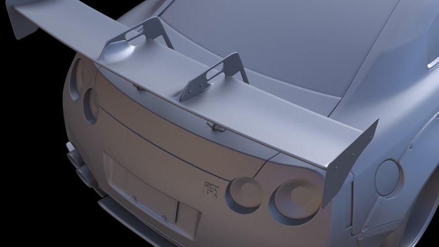Nissan GTR R35 Liberty Walk royalty-free 3d model - Preview no. 8