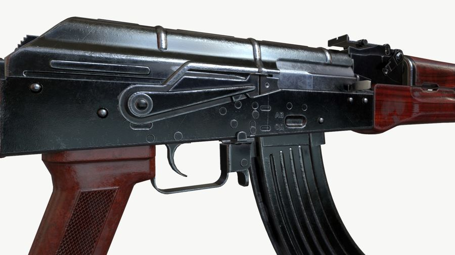 AKM (AK-47 AK-74) royalty-free 3d model - Preview no. 4