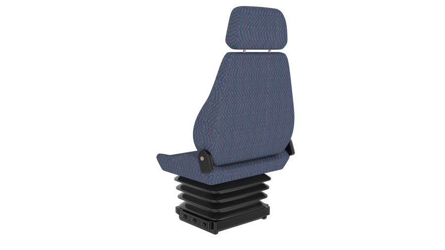 Vehicle seat royalty-free 3d model - Preview no. 3