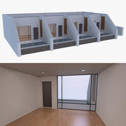 Resort building one 3d model