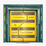 공상 과학 문 3d model