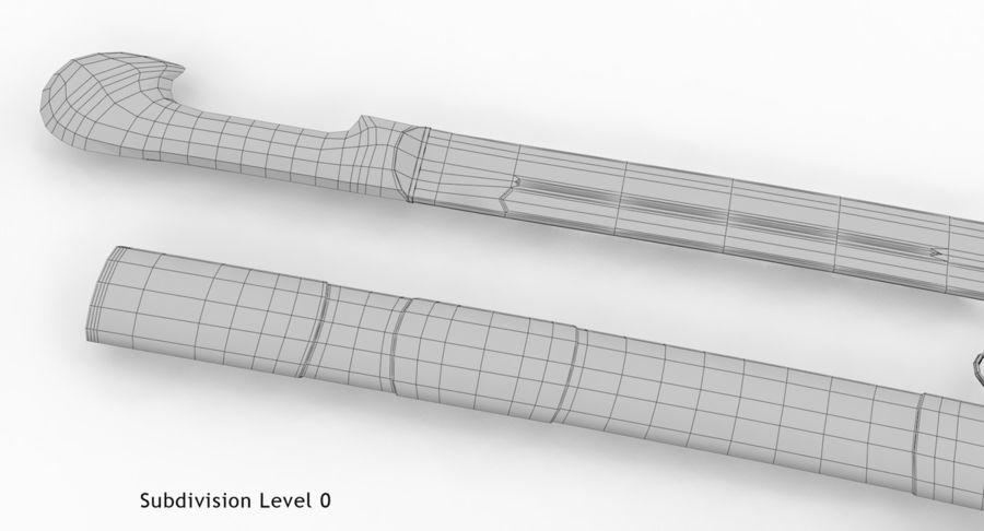 Caucasian Shashka Sword royalty-free 3d model - Preview no. 20