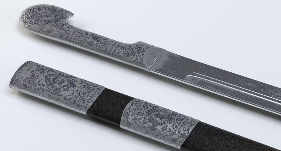 Caucasian Shashka Sword royalty-free 3d model - Preview no. 9