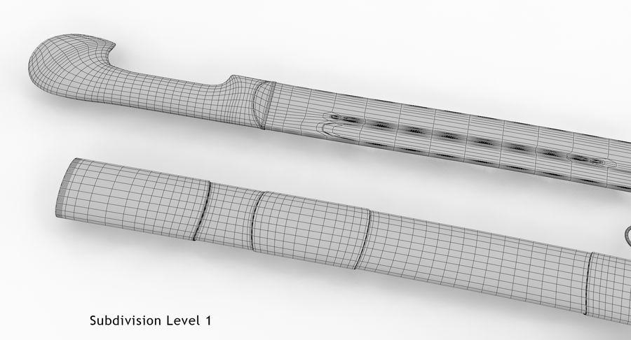 Caucasian Shashka Sword royalty-free 3d model - Preview no. 21