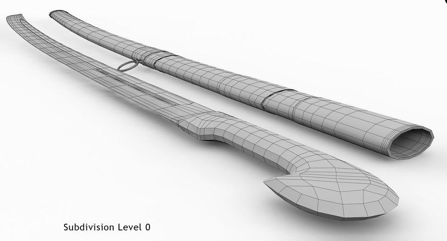 Caucasian Shashka Sword royalty-free 3d model - Preview no. 18