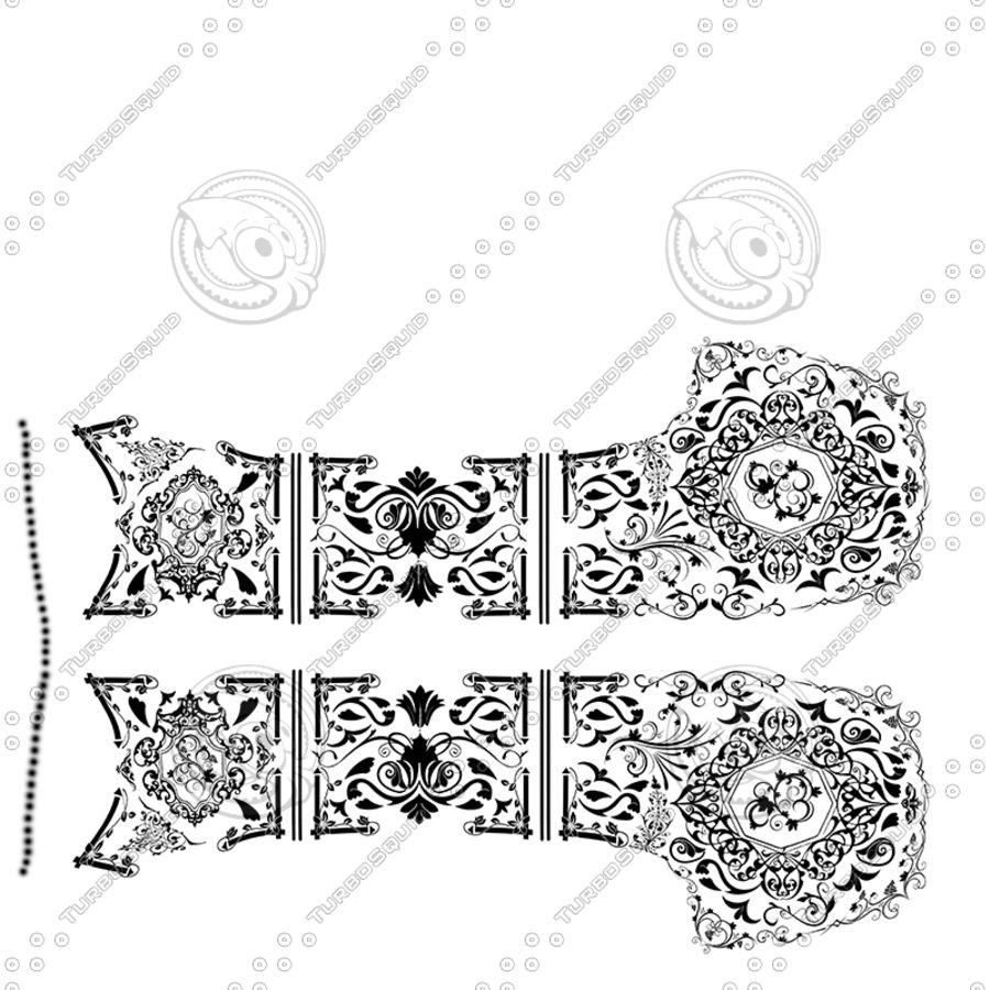 Caucasian Shashka Sword royalty-free 3d model - Preview no. 25