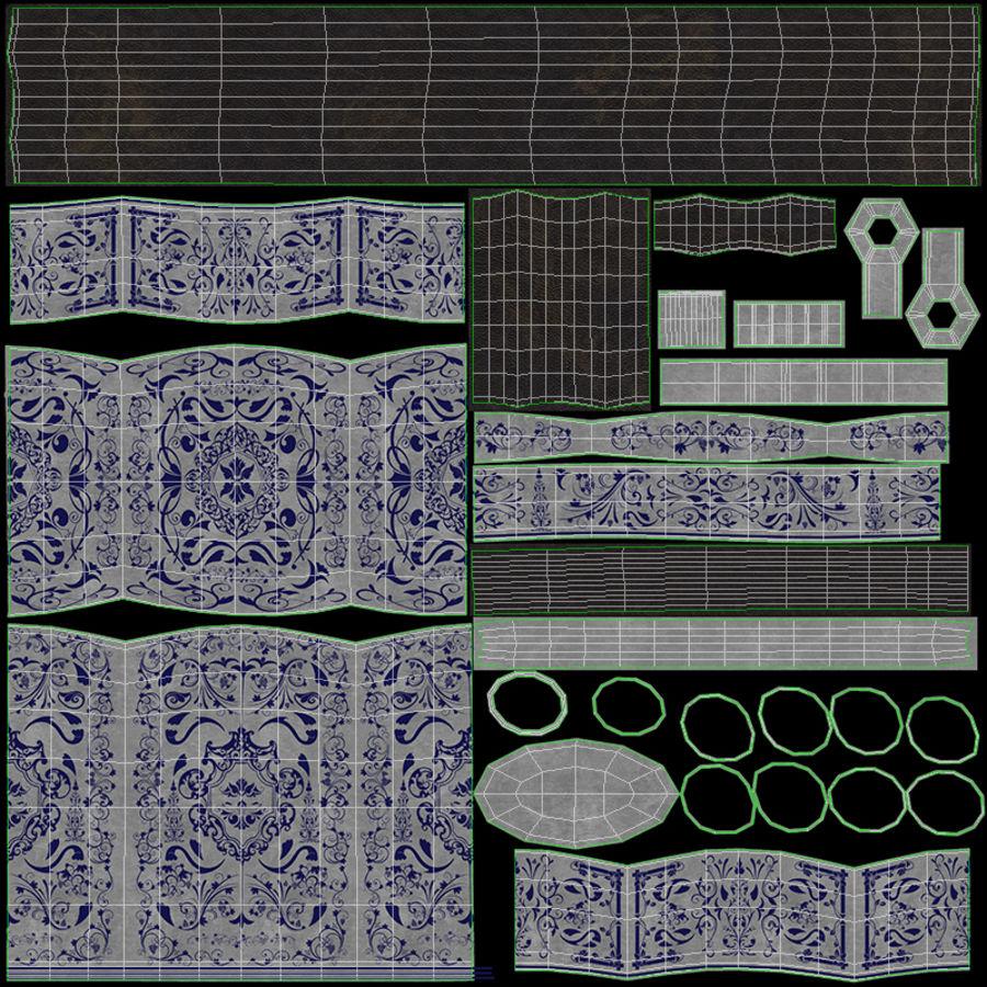Caucasian Shashka Sword royalty-free 3d model - Preview no. 26