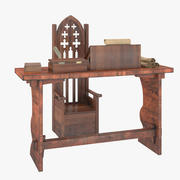 Medieval Writing Desk 3d model