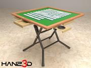 Mahjong table + Mahjong pieces 3d model