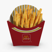 French Fry Box McDonalds 3d model