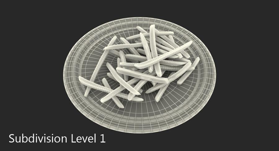 在纸碟的炸薯条 royalty-free 3d model - Preview no. 9