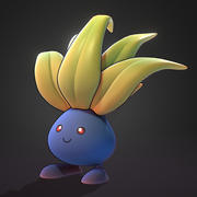 Oddish Pokemon 3d model