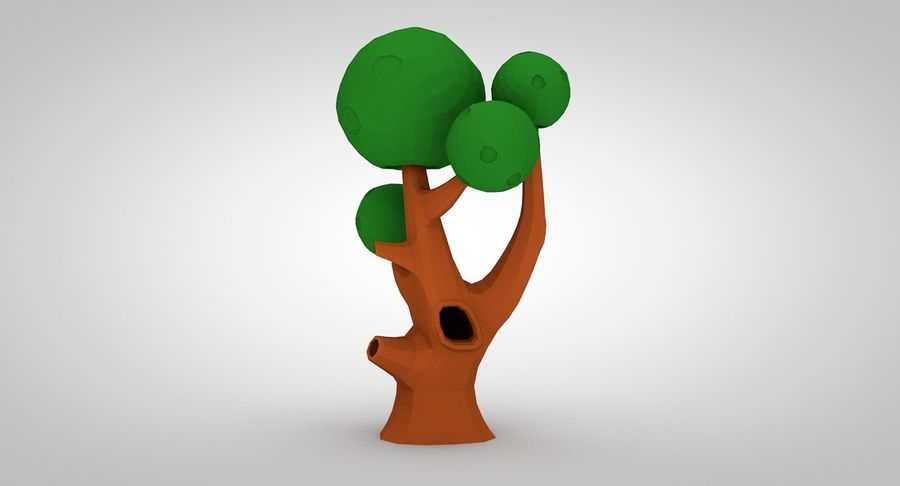 Low Poly Tree royalty-free 3d model - Preview no. 2