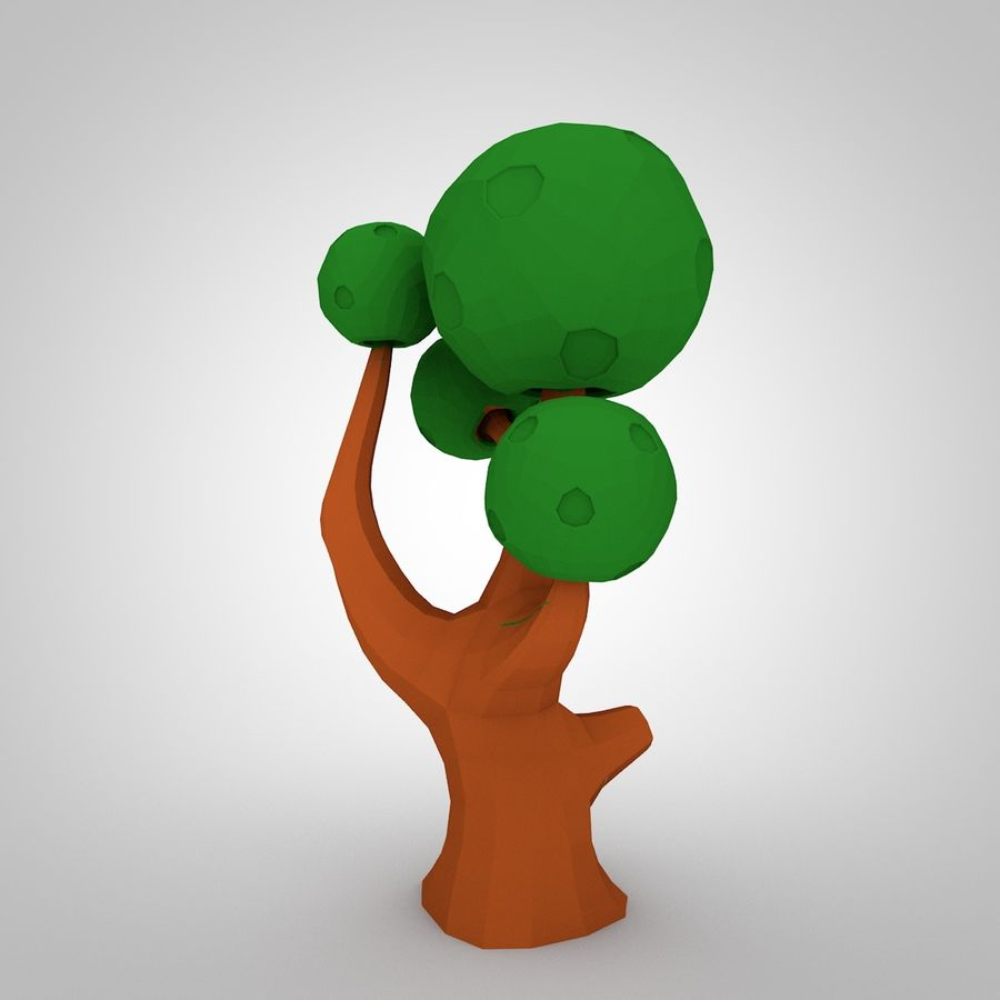 Low Poly Tree royalty-free 3d model - Preview no. 4