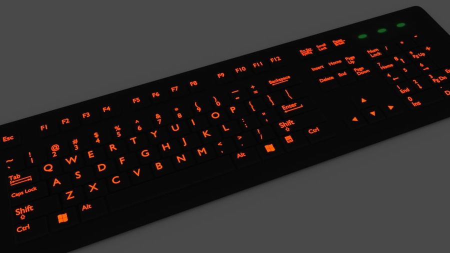Computer Keyboard Wireless royalty-free 3d model - Preview no. 4