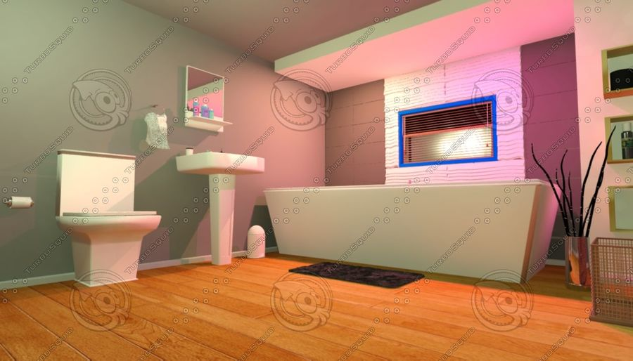 House Interior royalty-free 3d model - Preview no. 1