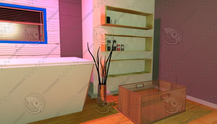 House Interior royalty-free 3d model - Preview no. 2