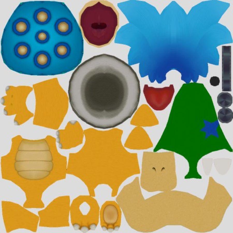 Ларри Купа- Марио Карт 8 royalty-free 3d model - Preview no. 10