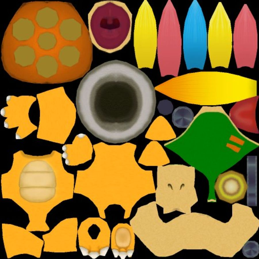 Лемми Купа- Марио Карт 8 royalty-free 3d model - Preview no. 10