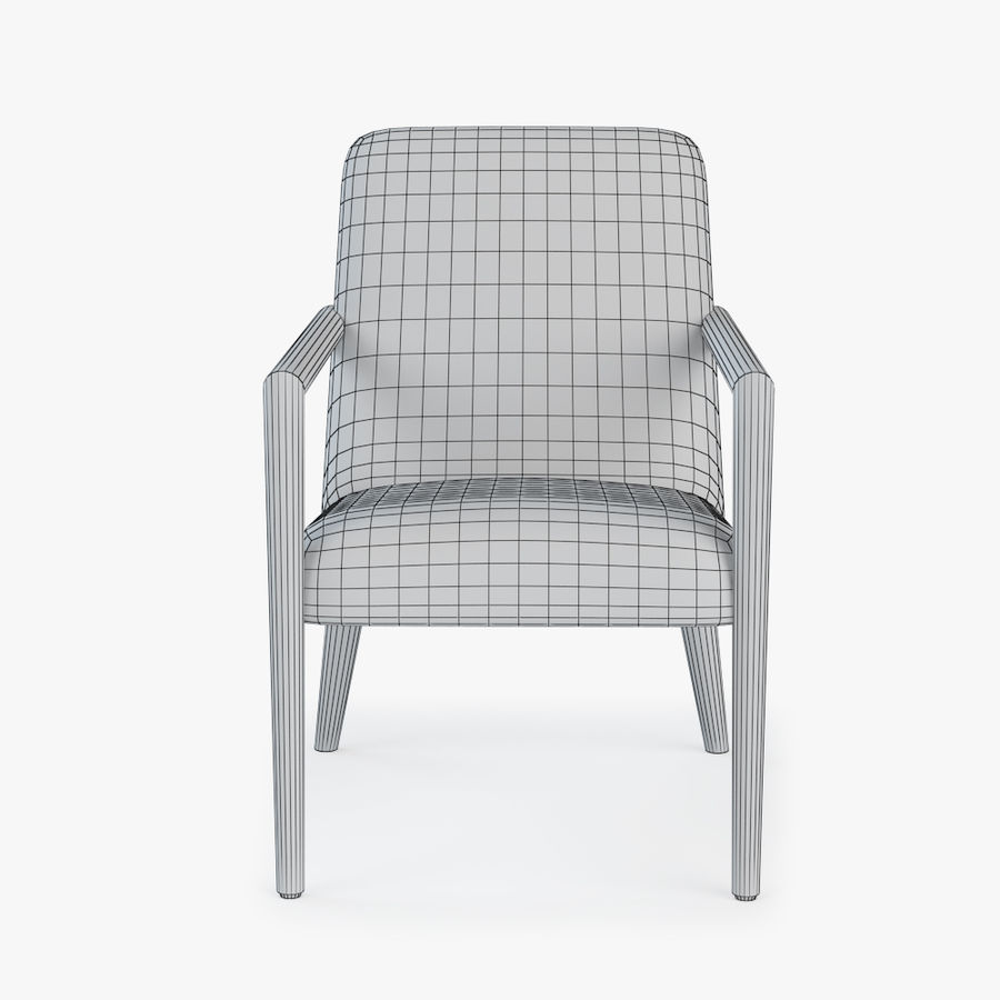Bright - Zack Arm Chair royalty-free 3d model - Preview no. 6