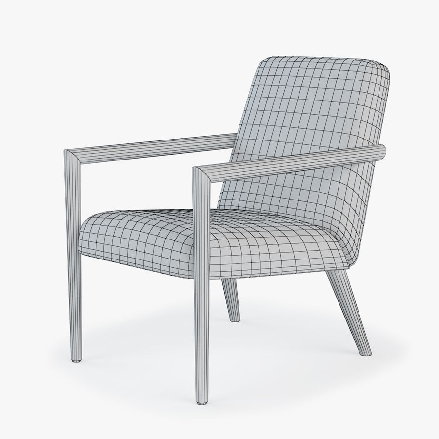 Bright - Zack Arm Chair royalty-free 3d model - Preview no. 2