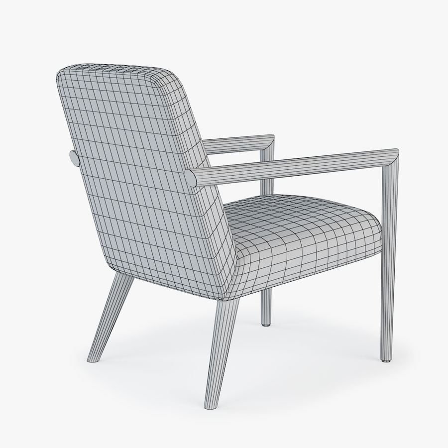 Bright - Zack Arm Chair royalty-free 3d model - Preview no. 4