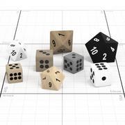骰子 3d model