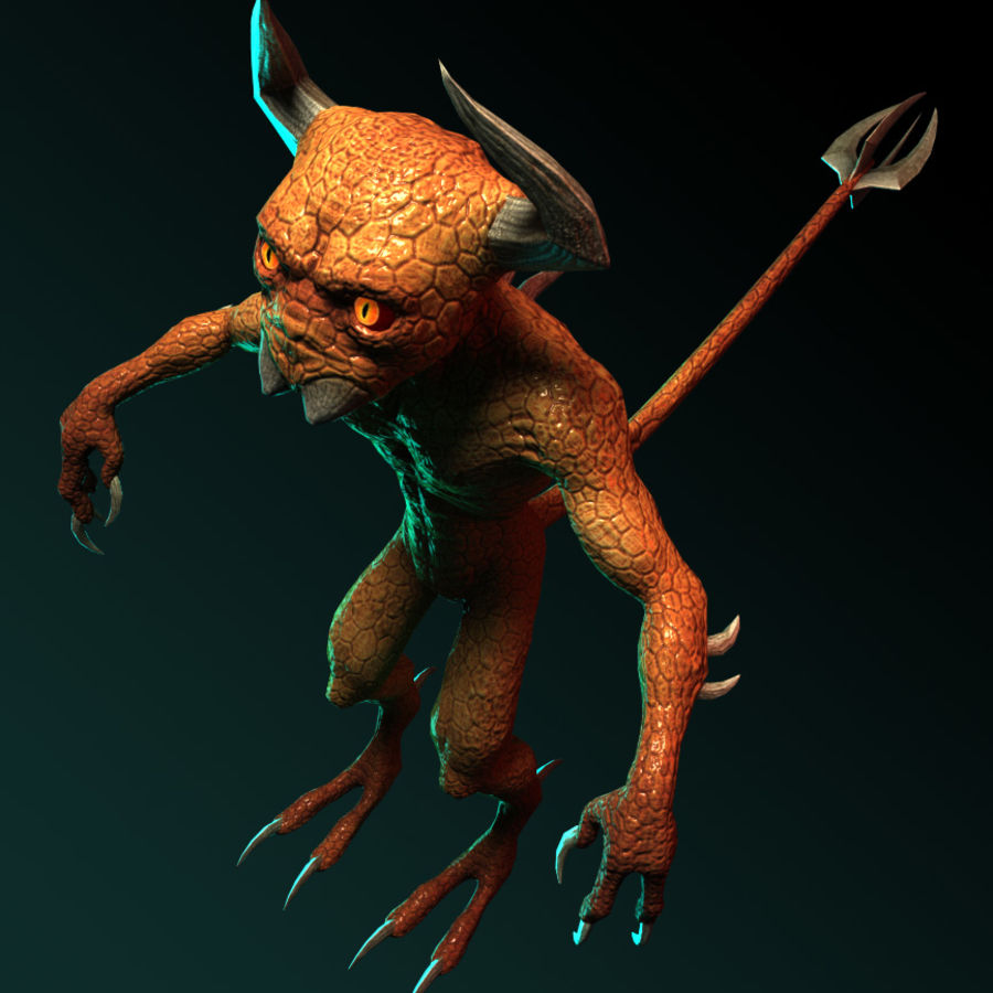 Demon royalty-free 3d model - Preview no. 7