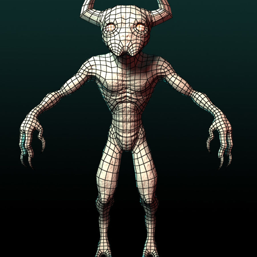 Demon royalty-free 3d model - Preview no. 8