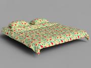 наволочка кровать 2 3d model