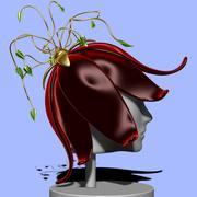 Chapeau de fleurs 3d model