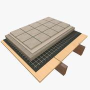 Architekturdetail - konkrete Bodenfliese 3d model
