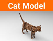 Cat game ready low poly model 3d model
