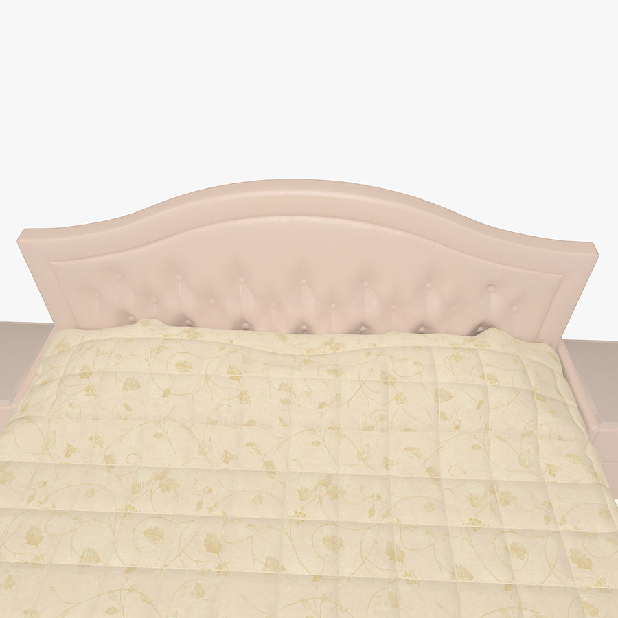Letto in pelle con due comodini camera da letto royalty-free 3d model - Preview no. 5