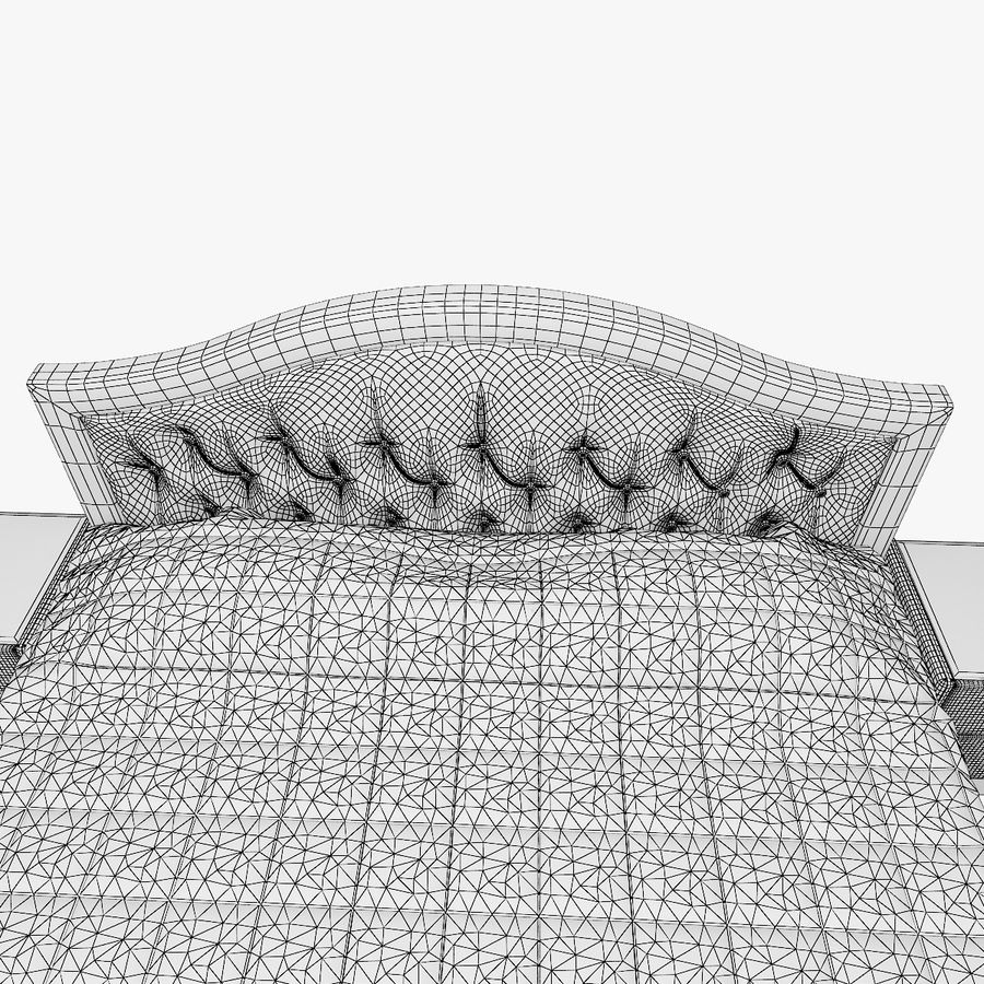 Letto in pelle con due comodini camera da letto royalty-free 3d model - Preview no. 11